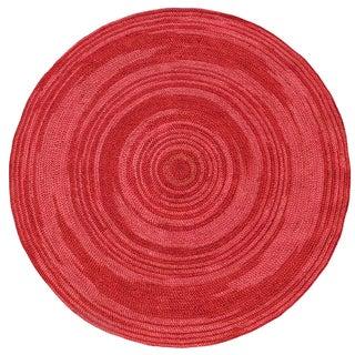 Hand-woven Rose Abrush Braided Jute Rug (8' x 8' Round)