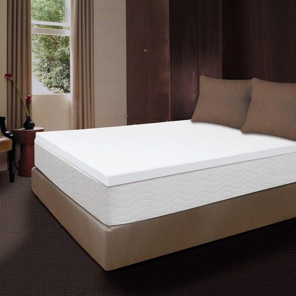 Comfort Memories Premium 2-inch Memory Foam Mattress Topper