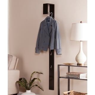 Upton Home Holmes Anywhere Black Wall Mount Coat Tree