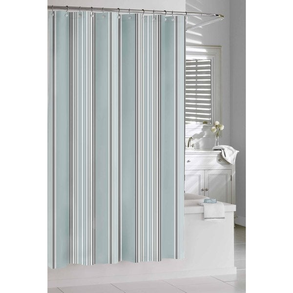 Spa Stripe Shower Curtain