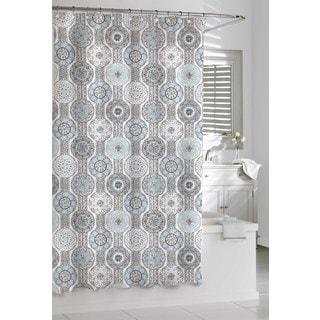 Grey Shower Curtains Vibrant Fabric Bath Curtains