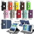 BasAcc Swivel Leather Case/ Anti-glare Screen Protector for Samsung Galaxy Tab 3 7.0 P3200/ Kids