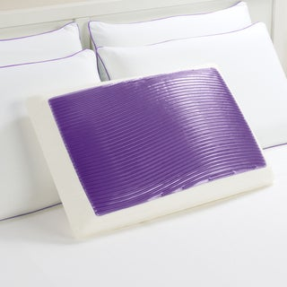 Comfort Memories Purple Wave Memory Foam and Gel Pillow