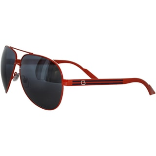Gucci Men's '1951/S' Red Metal Aviator Sunglasses