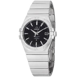 Omega Men's 123.10.35.20.01.001 'Constellation' Black Dial Stainless Steel Watch