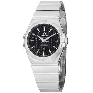 Omega Men's 123.10.35.20.01.002 'Constellation' Black Dial Stainless Steel Bracelet Watch