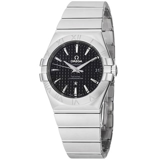 Omega Men's 123.10.35.20.01.002 'Constellation' Black Dial Stainless Steel Bracelet Watch