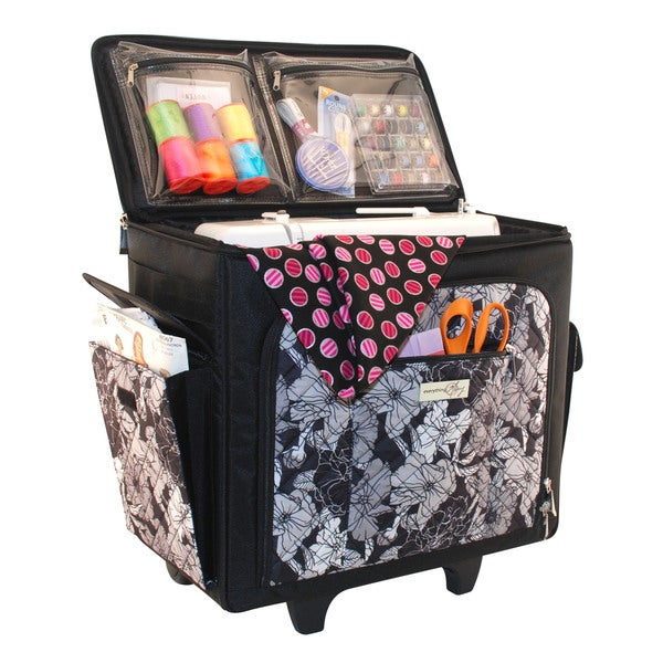 Everything Mary Sewing Machine Rolling Tote Overstock
