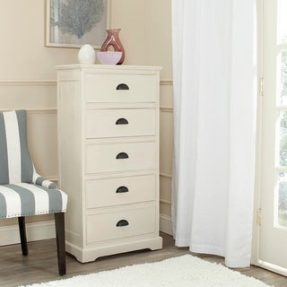 Safavieh Prudence White Storage 5-Drawer Chest