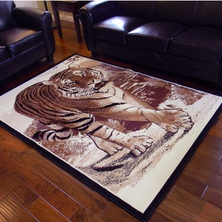 African Adventure Tiger Area Rug (5' x 7')