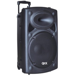 QFX PBX-61150BT Speaker System - Wireless Speaker - Black - USB