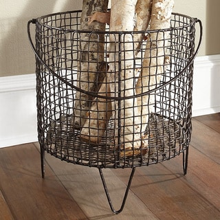 Large Iron Mesh Basket