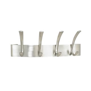 Metal 4-hook Coat Rack (Pack of 6)