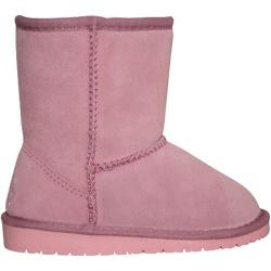 Girls' Dawgs Cow Suede Boots Pink