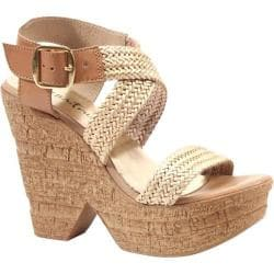 Women's Diba True Cath Leen Nude/Gold Leather/Metallic