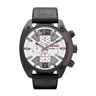 Diesel Men's DZ4278 Black Leather Chronograph Watch