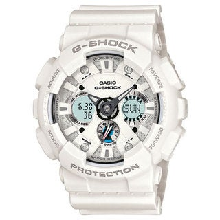 Casio Men's 'G-Shock' GA120A-7A White Resin Watch