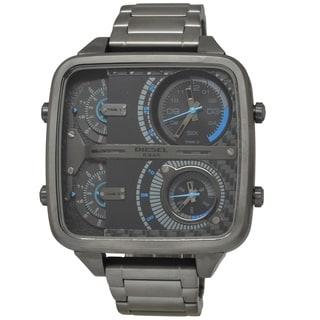 Diesel Men's 'Mr. Daddy' Square Gunmetal Grey Watch