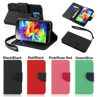 INSTEN Wallet with Card Slot Leather Cover Stand Phone Case Cover for Samsung Galaxy S5 SV