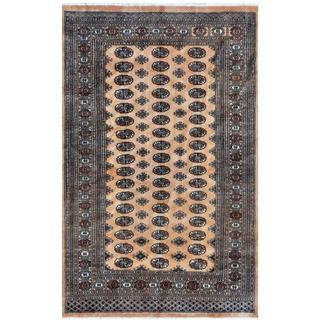 Pakistani Hand-knotted Bokhara Tan/ Ivory Wool Rug (4' x 6')