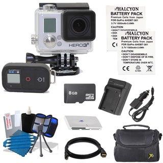 GoPro Hero3+ Black Motorsports Edition Camcorder 8GB Bundle