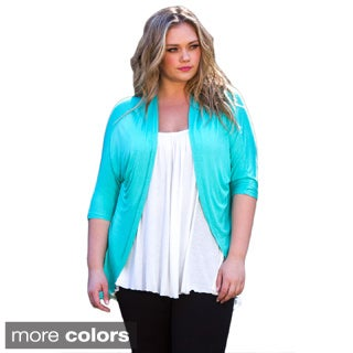 Sealed With a Kiss Women's Plus Size 'Dawna' Open Cardigan