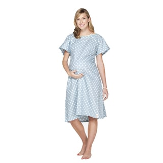 Baby Be Mine Gownie Hospital Gown with Pillowcase in Nicole