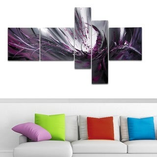 Purple Abstract Canvas 5-piece Painting Set