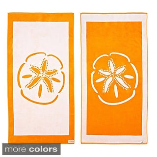 Sand Dollar Reversible Oversized Beach Towel