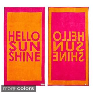 Hello Sunshine Reversible Oversized Beach Towel