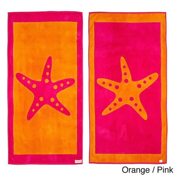 Starfish Reversible Oversized Beach Towel