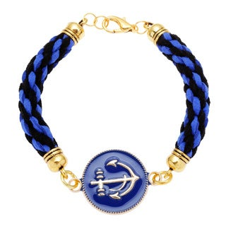 Braided Navy Nautical Bracelet (Guatemala)