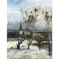Alexei Savrasov 'The Rooks Have Returned' Oil on Canvas Art