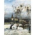Alexei Savrasov 'The Rooks Have Returned' Oil on Canvas Art