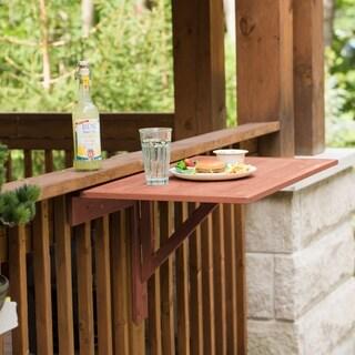 Natural Cypress Wood Wall-mounted Drop Leaf Table - Regular