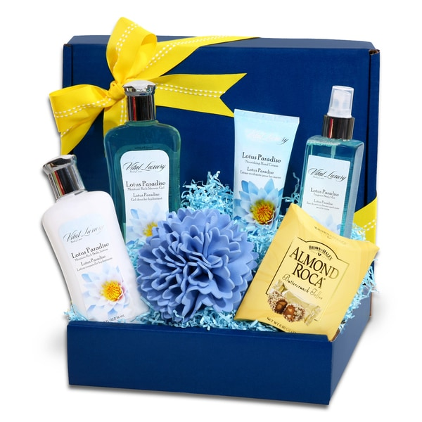 Alder Creek Gift Baskets Lotus Paradise Spa Gift Box