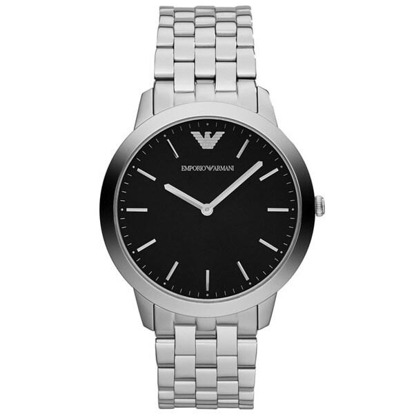 Armani Men's AR1744 Retro Round Stainless Steel Watch