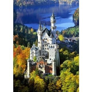 'Castle in Autumn' Oil on Canvas Art