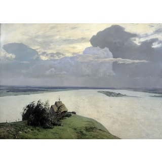 Isaac Levitan 'Above the Eternal Peace' Oil on Canvas Art