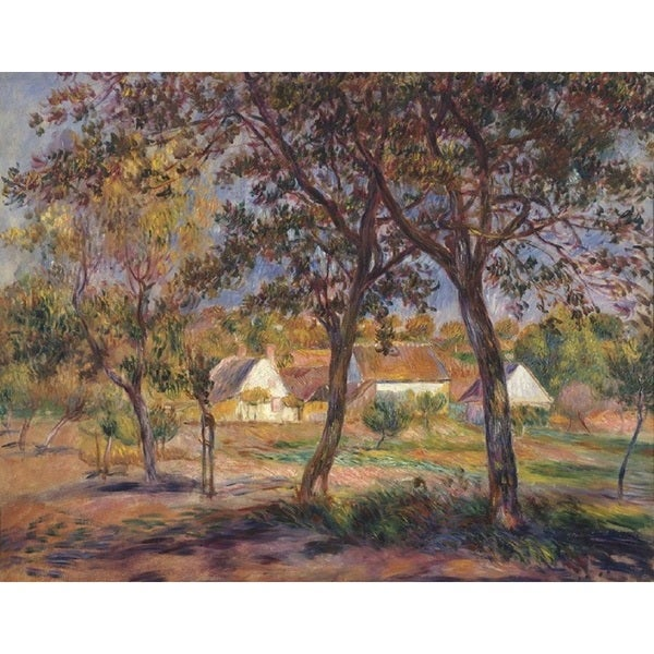 Pierre-Auguste Renoir 'The Outskirts of Pont-Aven' Oil on Canvas Art