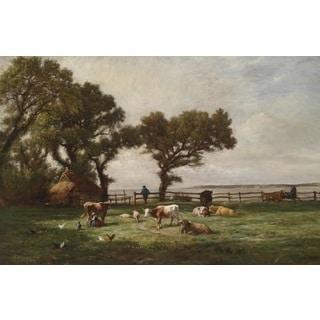 'Grazing' Oil on Canvas Art