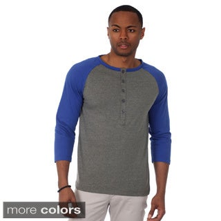 Justified Lies Men's Raglan Cut Baseball Henley Tee
