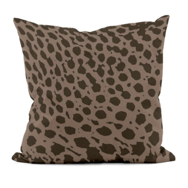 Brown Animal Print 20x20-inch Decorative Pillow