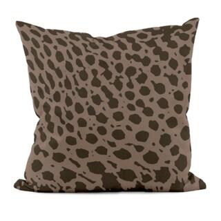 Brown Animal Print 20x20-inch Decorative Pillow