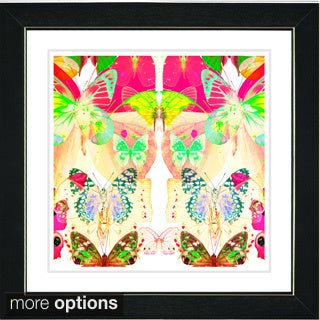 Zhee Singer 'Pastel Butterfly Montage' Framed Fine Art Print