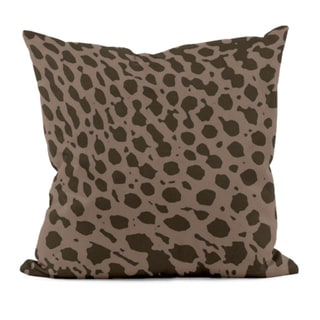 Brown Animal Print 16x16-inch Decorative Pillow