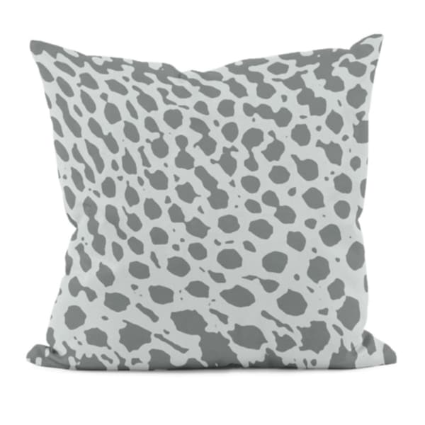 Grey Animal Spots 18x18-inch Decorative Pillow