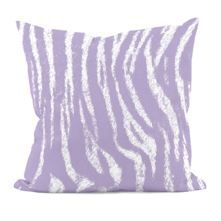 Lilac Purple Animal Stripe 20x20-inch Decorative Pillow