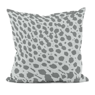 Grey Animal Spots 16x16-inch Decorative Pillow
