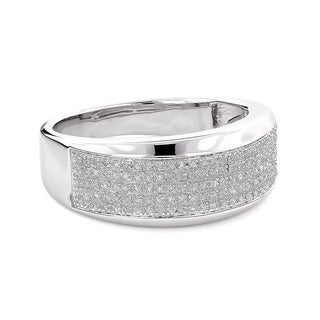 Sterling Silver Men's 1/3ct TDW Diamond Wedding Band (H-I, SI1-SI2)